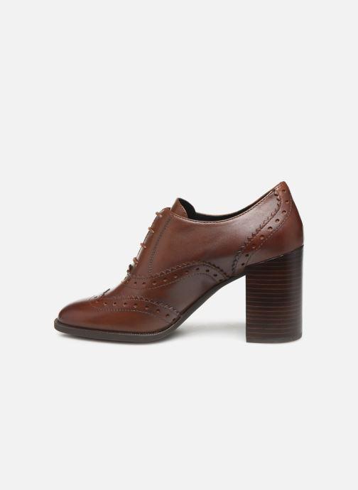 Chaussures à lacets Geox D JACY HIGH Marron vue face