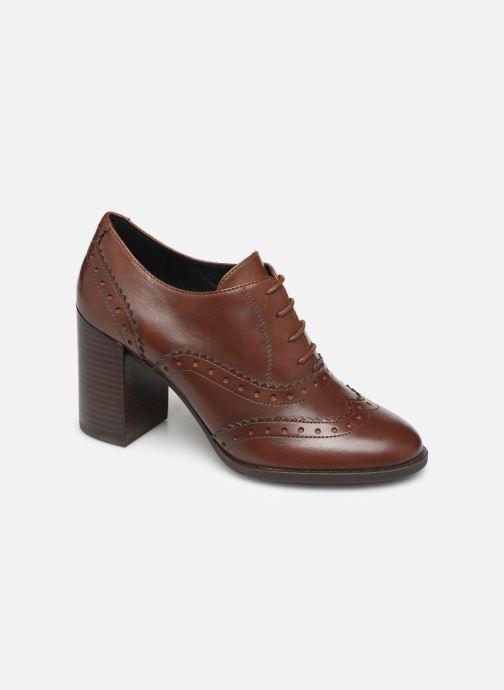 Snøresko Geox D JACY HIGH Brun detaljeret billede af skoene