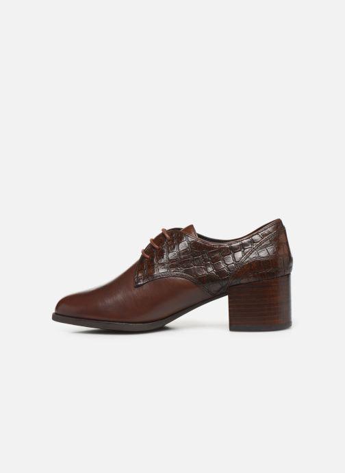 Zapatos con cordones Geox D JACY MID Marrón vista de frente