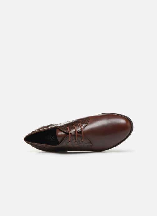 Chaussures à lacets Geox D JACY MID Marron vue gauche