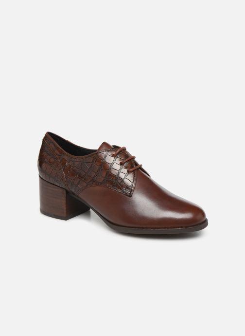 Zapatos con cordones Geox D JACY MID Marrón vista de detalle / par