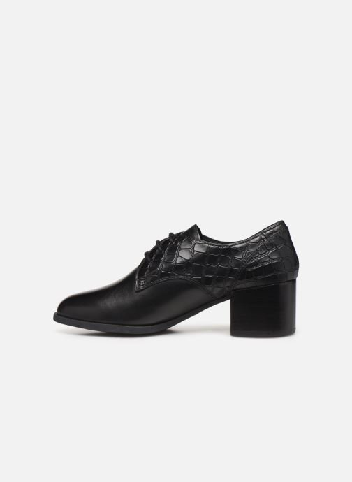 Lace-up shoes Geox D JACY MID Black front view