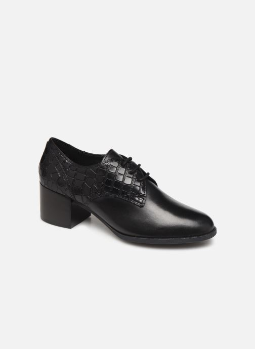 Zapatos con cordones Geox D JACY MID Negro vista de detalle / par