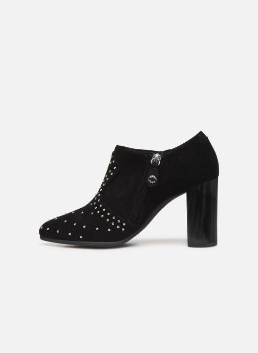 Boots en enkellaarsjes Geox D PEYTHON HIGH Zwart voorkant