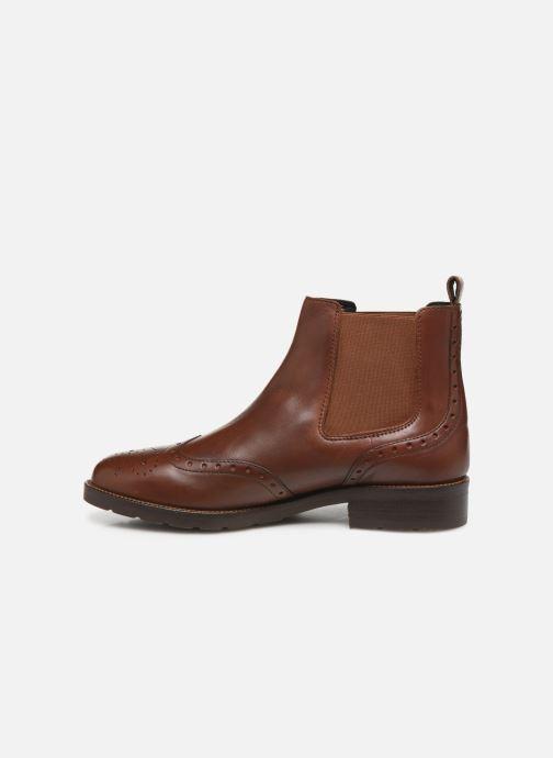 Boots en enkellaarsjes Geox D BETTANIE 3 Bruin voorkant