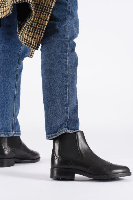 Bottines et boots Geox D BETTANIE 4 Noir vue bas / vue portée sac