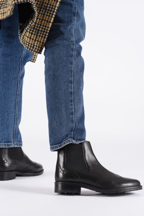 Ankle boots Geox D BETTANIE 4 Black view from underneath / model view