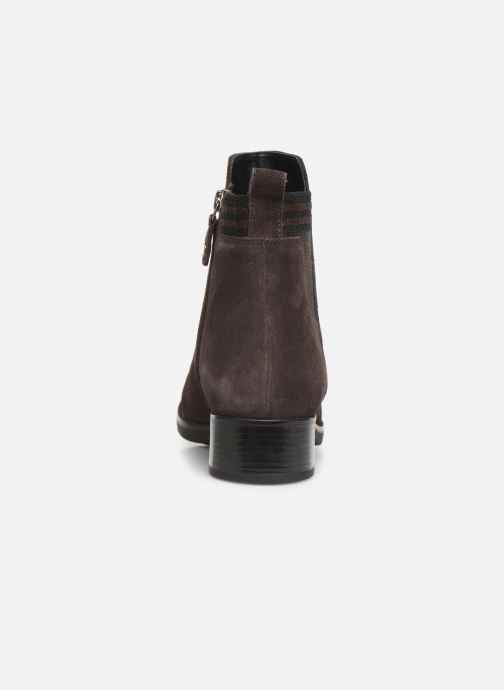Boots en enkellaarsjes Geox D FELICITY Bruin rechts