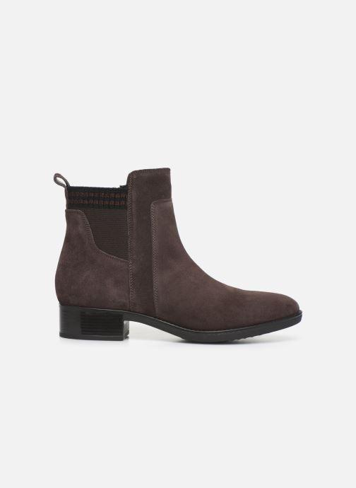 Boots en enkellaarsjes Geox D FELICITY Bruin achterkant