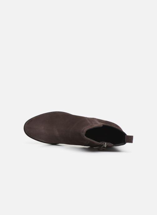 Boots en enkellaarsjes Geox D FELICITY Bruin links