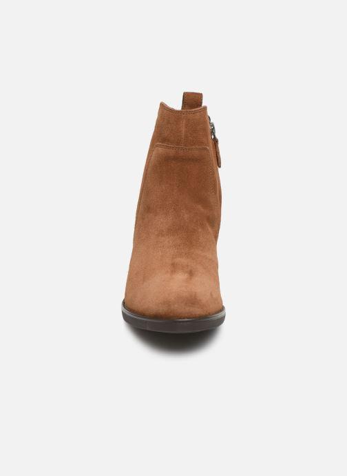 Bottines et boots Geox D FELICITY Marron vue portées chaussures