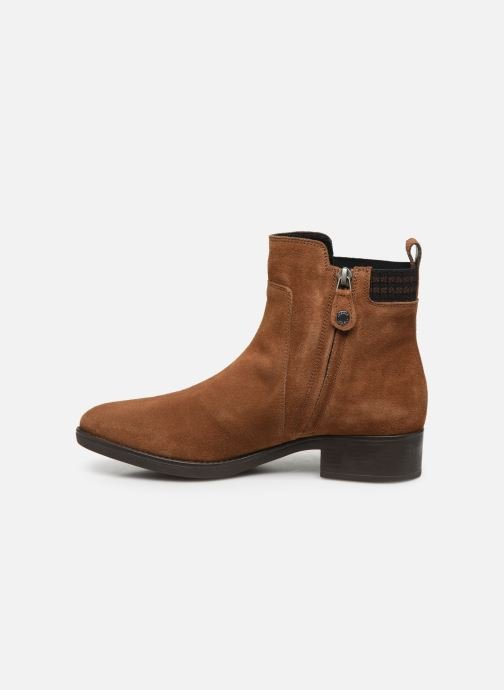 Ankle boots Geox D FELICITY Brown front view