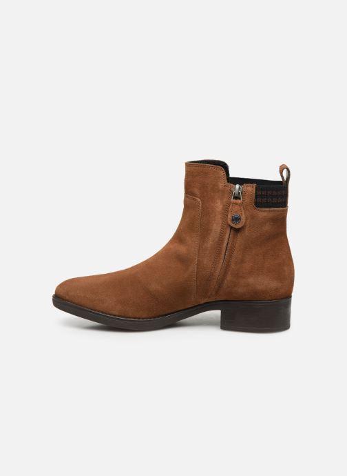 Stiefeletten & Boots Geox D FELICITY braun ansicht von vorne