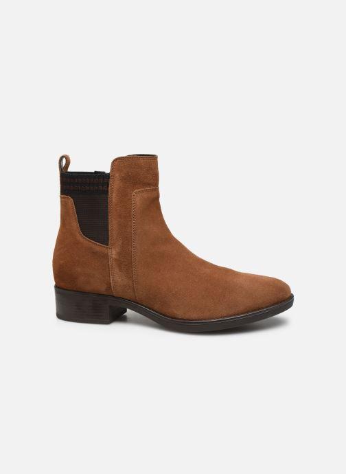 Stiefeletten & Boots Geox D FELICITY braun ansicht von hinten