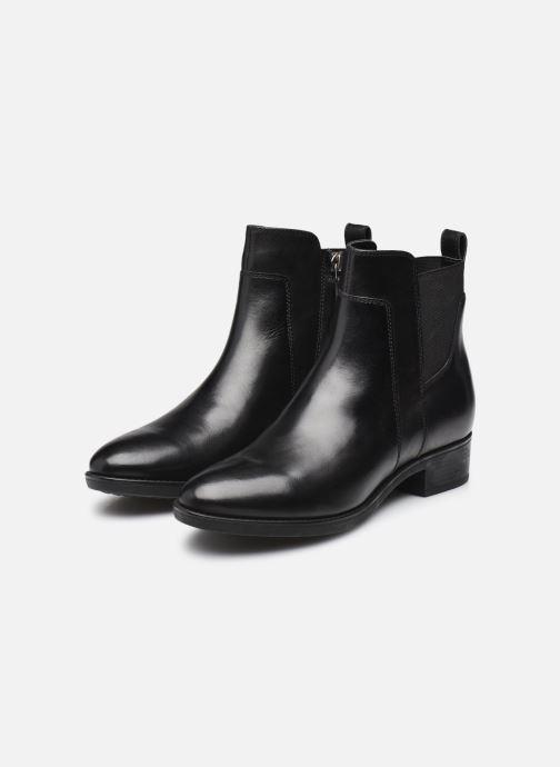 Bottines et boots Geox D FELICITY Noir vue bas / vue portée sac