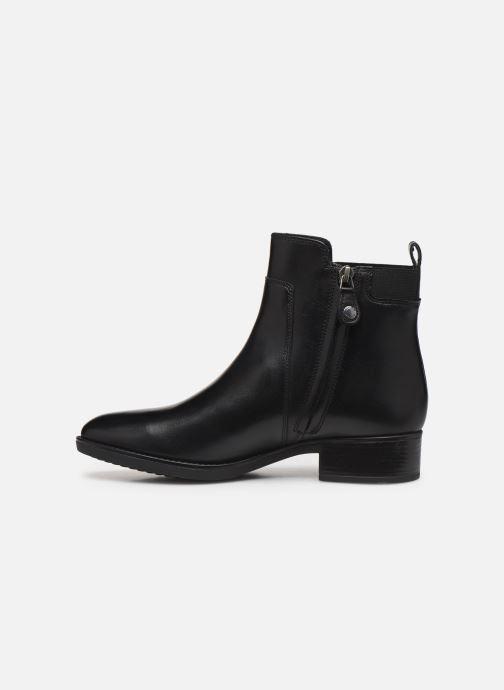 Boots en enkellaarsjes Geox D FELICITY Zwart voorkant