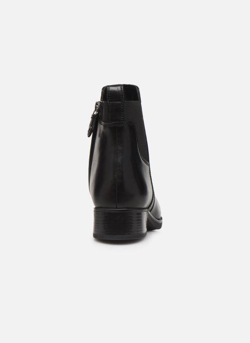 Boots en enkellaarsjes Geox D FELICITY Zwart rechts