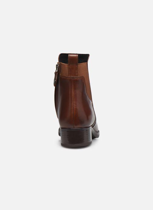Stiefeletten & Boots Geox D FELICITY braun ansicht von rechts
