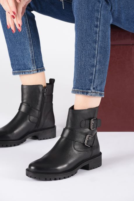 Bottines et boots Geox D HOARA Noir vue bas / vue portée sac