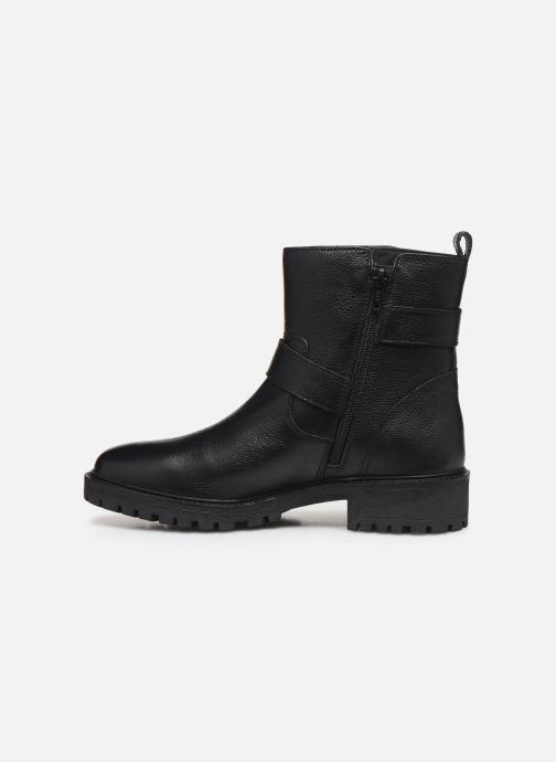 Bottines et boots Geox D HOARA Noir vue face
