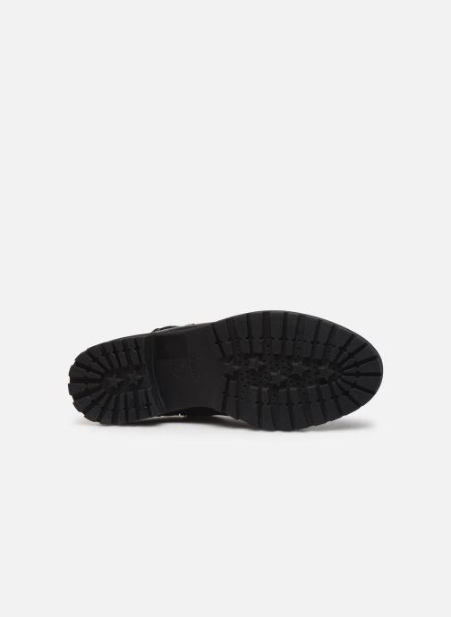 Bottines et boots Geox D HOARA Noir vue haut