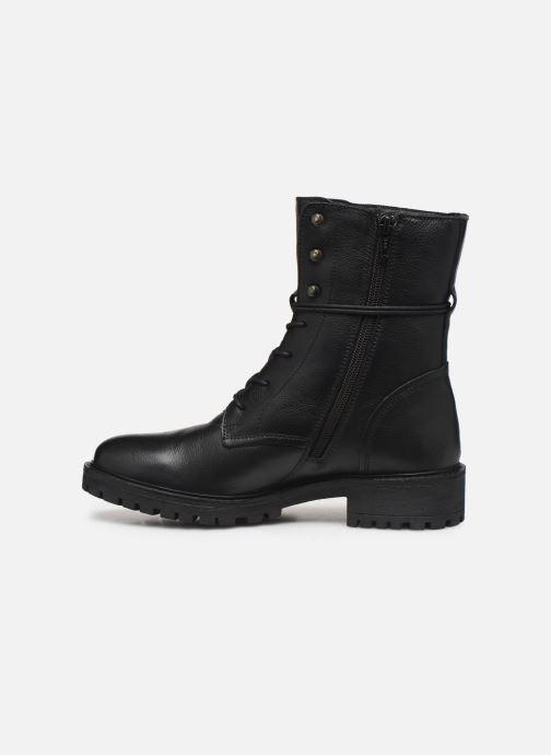 Boots en enkellaarsjes Geox D HOARA 2 Zwart voorkant