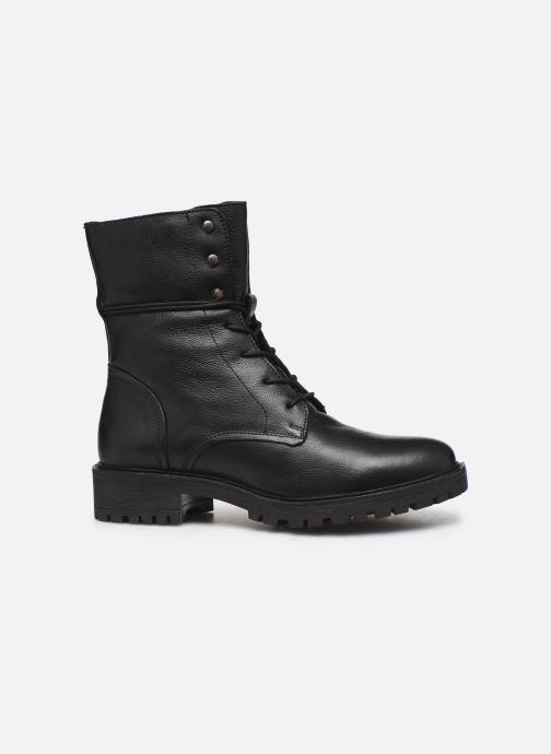 Boots en enkellaarsjes Geox D HOARA 2 Zwart achterkant