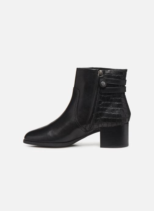 Boots en enkellaarsjes Geox D JACY MID  2 Zwart voorkant