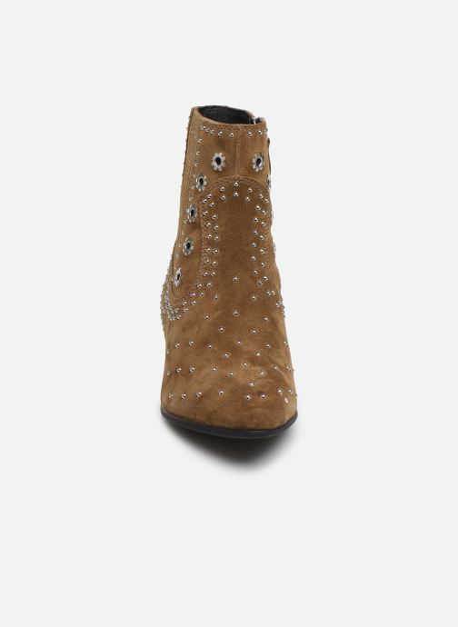 Boots en enkellaarsjes Geox D PEYTHON LOW Bruin model