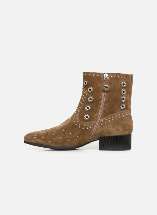 Boots en enkellaarsjes Geox D PEYTHON LOW Bruin voorkant