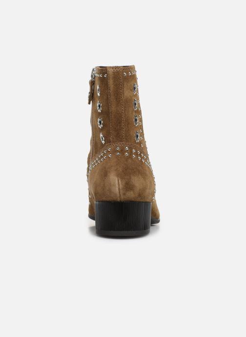 Boots en enkellaarsjes Geox D PEYTHON LOW Bruin rechts