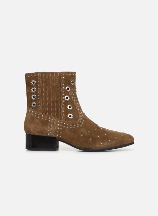 Boots en enkellaarsjes Geox D PEYTHON LOW Bruin achterkant