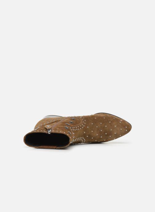 Boots en enkellaarsjes Geox D PEYTHON LOW Bruin links