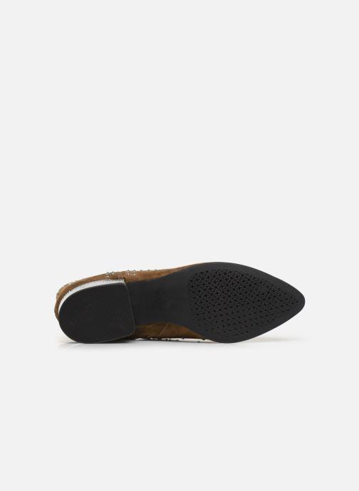 Boots en enkellaarsjes Geox D PEYTHON LOW Bruin boven