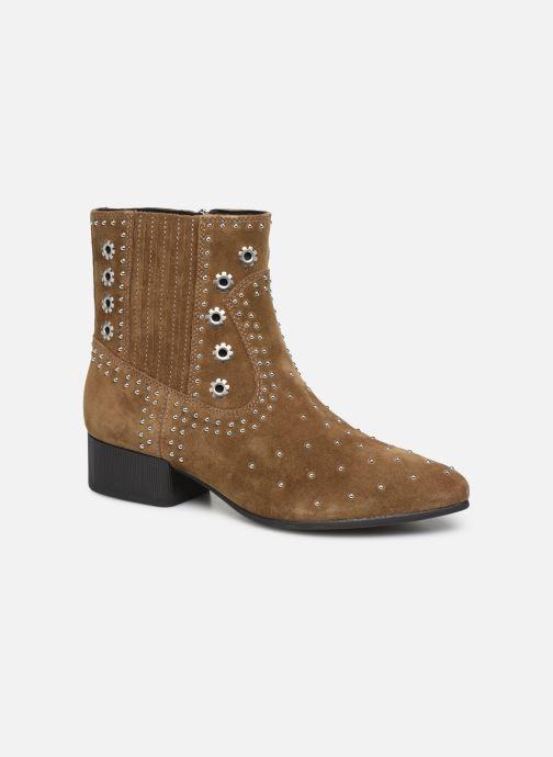 Boots en enkellaarsjes Geox D PEYTHON LOW Bruin detail