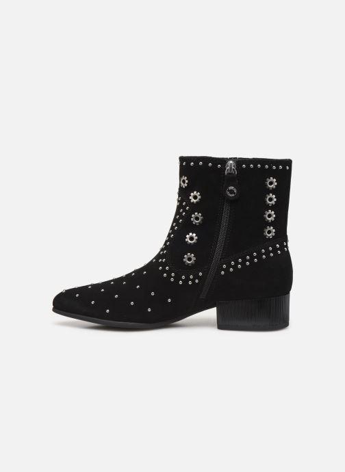 Boots en enkellaarsjes Geox D PEYTHON LOW Zwart voorkant