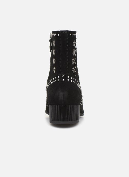 Boots en enkellaarsjes Geox D PEYTHON LOW Zwart rechts