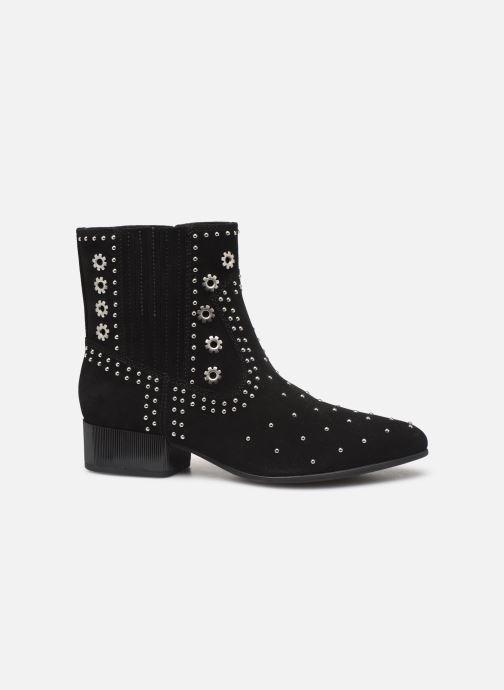 Boots en enkellaarsjes Geox D PEYTHON LOW Zwart achterkant