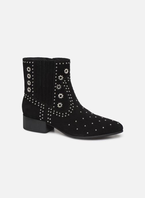 Boots en enkellaarsjes Geox D PEYTHON LOW Zwart detail