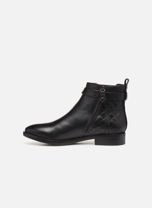 Boots en enkellaarsjes Geox DONNA BROGUE 2 Zwart voorkant