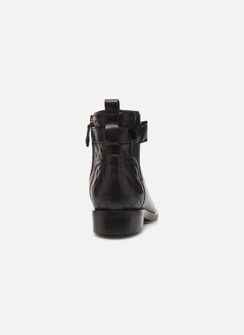 Boots en enkellaarsjes Geox DONNA BROGUE 2 Zwart rechts