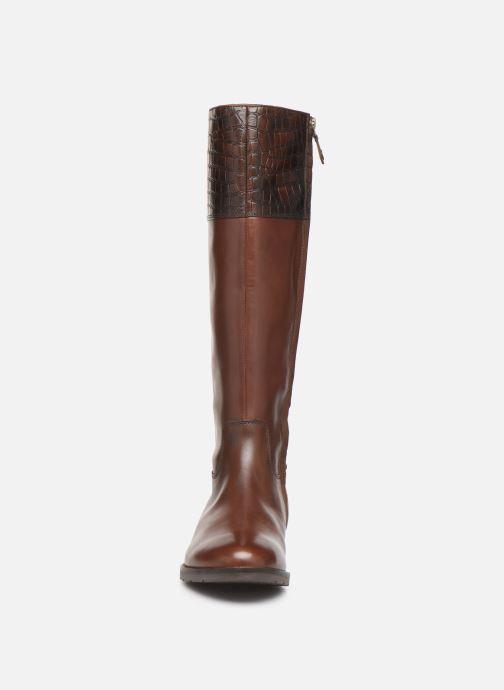 Bottes Geox D BETTANIE 4  high Marron vue portées chaussures