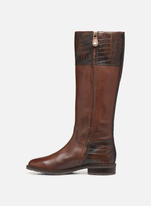 Bottes Geox D BETTANIE 4  high Marron vue face