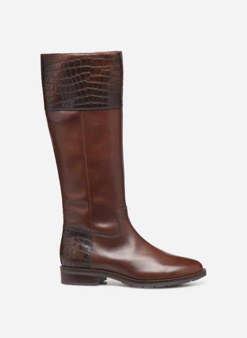 Boots & wellies Geox D BETTANIE 4  high Brown back view