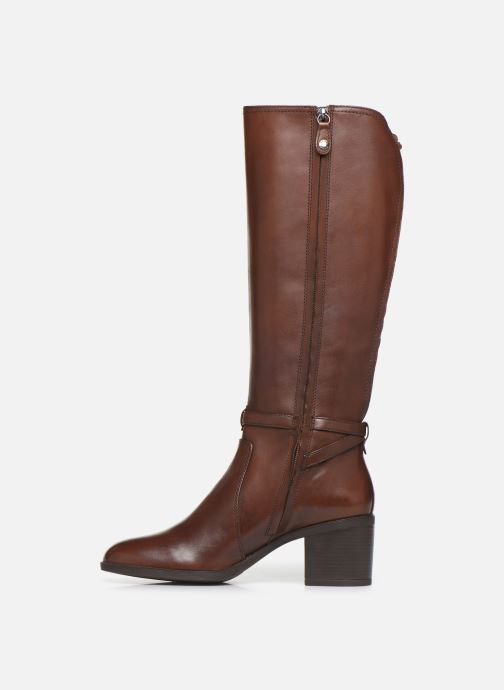 Boots & wellies Geox D GLYNNA Brown front view