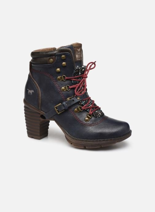 Ankle boots Mustang shoes Cornflower Blue detailed view/ Pair view