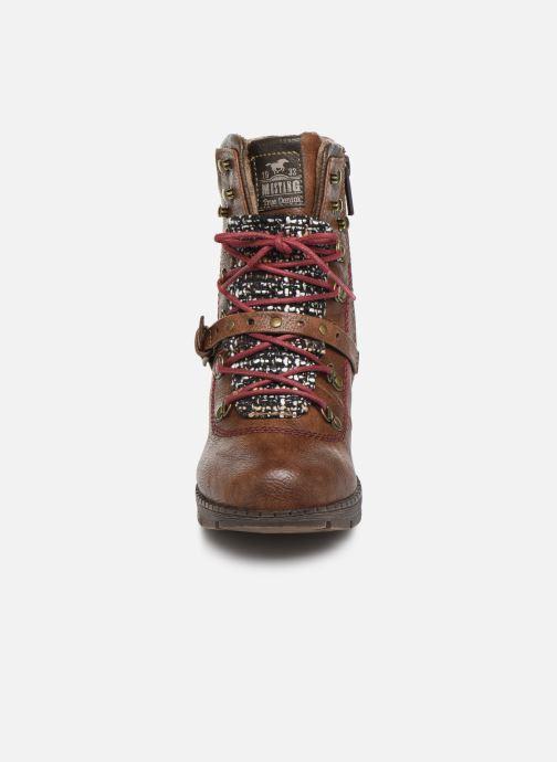 Bottines et boots Mustang shoes Cornflower Marron vue portées chaussures