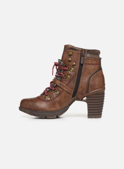 Bottines et boots Mustang shoes Cornflower Marron vue face
