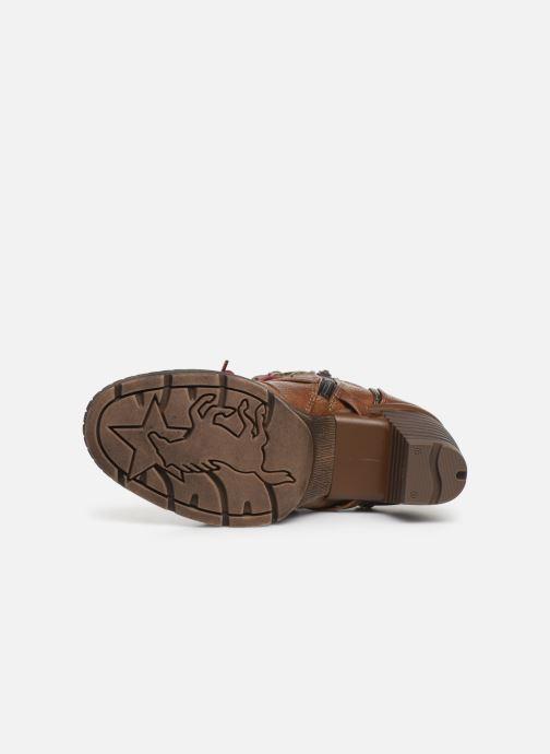 Bottines et boots Mustang shoes Cornflower Marron vue haut