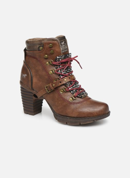 Bottines et boots Mustang shoes Cornflower Marron vue détail/paire